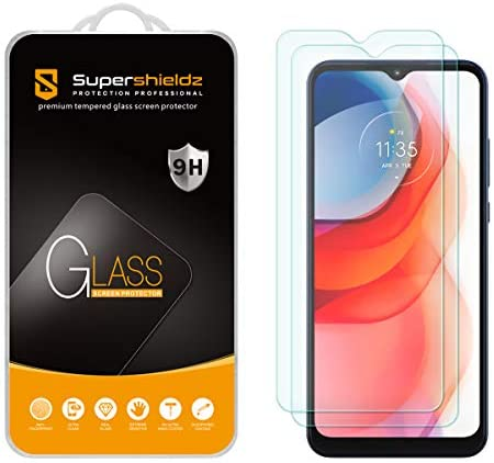 (2 Pack) Supershieldz for Motorola Moto G Play (2021) Tempered Glass Screen Protector, Anti Scratch, Bubble Free