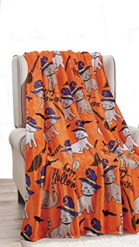 Décor&More Happy Halloween Microplush Throw Blanket (50
