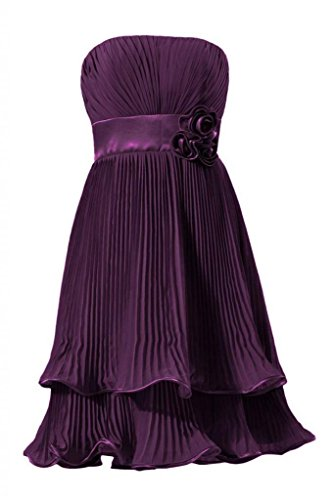DaisyFormals Dress BM334 2 Bridesmaid Elegant Layer Two Short Chiffon byzantium Prom Dress OXwqOB1
