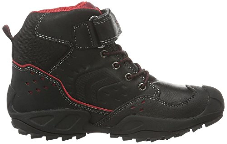 Geox Boys' J New Savage D Shoes, Black (Black/REDC0048), 1 Child UK