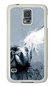Fallen White Hard Case Cover Skin For Samsung Galaxy S5 I9600