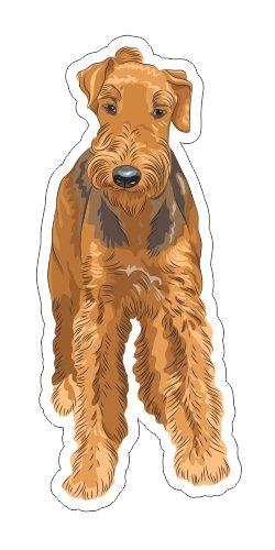 - JS Artworks Airedale Terrier Vinyl Bumper Sticker Decal Dog Pet Family Love