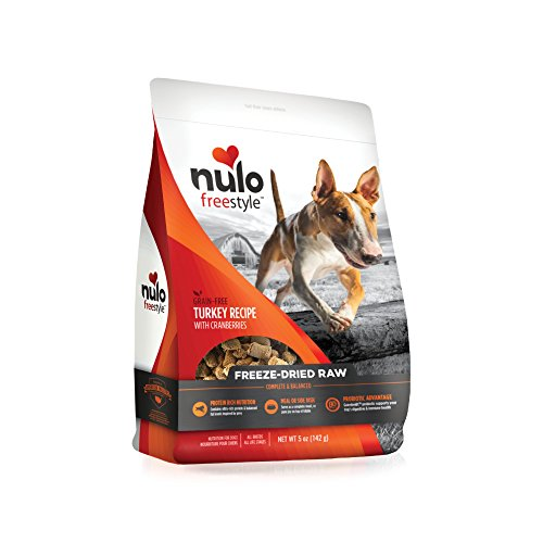 Nulo Freeze Dried Raw Dog Food For All Ages & Breeds: Natural Grain Free Formula With Ganedenbc30 Probiotics For Digestive & Immune Health – Turkey Recipe With Cranberries – 5 Oz Bag