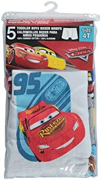 Disney Cars 5 Pack Boxer Brief Toddler Boy