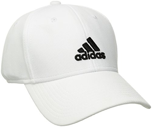 - adidas Men's Rucker Stretch Fit Cap, White/Black, Small/Medium