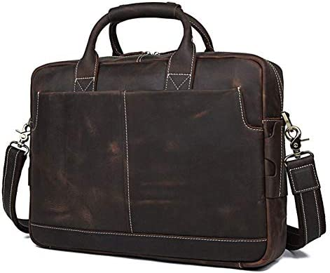 LYHLYH Herren-Leder-Rucksack-Rucksack-Schultasche Spielraum-Schulter-Laptop-Tasche Schultertasche Verstellbarer Abnehmbarer Schultergurt