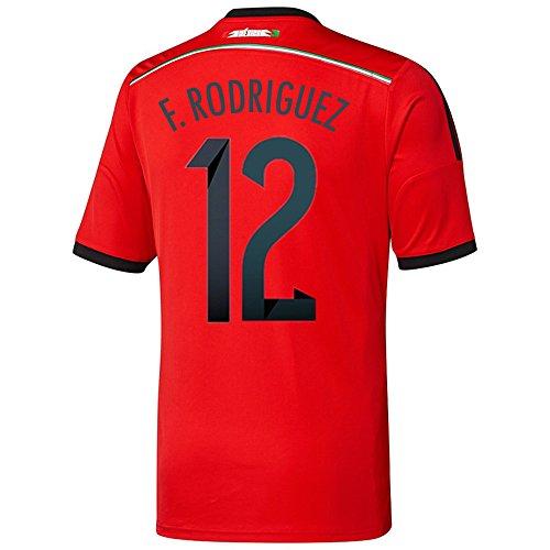 冗長こだわり鼻Adidas F. RODRIGUEZ #12 Mexico Away Jersey World Cup 2014/サッカーユニフォーム メキシコ アウェイ用 ワールドカップ2014 背番号12 F.ロドリゲス