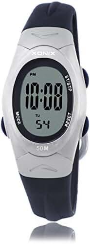 RetroLEDWaterproof digital watches/Girl girl multifunctional electronic watches-B