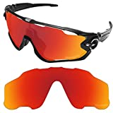 Tintart Performance Replacement Lenses for Oakley Jawbreaker Sunglass Polarized Etched-Fire Red