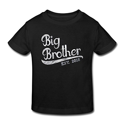 Big Brother Custom Cotton Youth Fashion T Shirt Top Black 3 Toddler