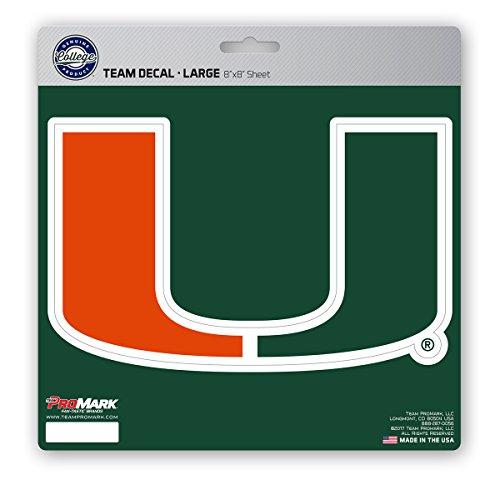 - ProMark NCAA Miami Hurricanes Unisex Miami Hurricanes Decal Die Cutmiami Hurricanes Decal Die Cut, Team Color, 8x8