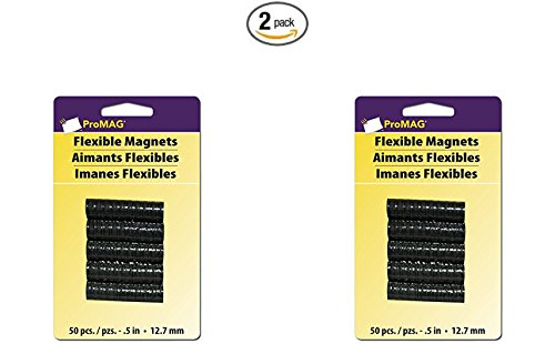 Magnet Promag - ProMag Flexible Round Magnets, 0.5-Inch, 50-Pack (2)