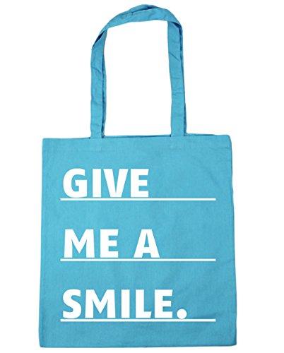 smile litres Bag HippoWarehouse Tote Surf 10 x38cm 42cm Shopping Give Gym me Blue a Beach TSS8t7xq