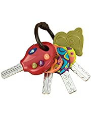B. toys – LucKeys – 4 Textured Toy Keys for Babies & Toddlers – Flashlight & Car Sounds – Non-Toxic