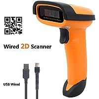 NETUM 2D / QR Barcode Scanner, Laser Barcodescanner Hand USB Wired Bar-code Scanner Imager Handheld mit USB-Kabel USB-Anschluss Lesen von Barcodes für PC Mac