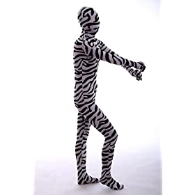 - 41CwK 2O YL - Halloween Cosplay Full Bodysuit Animal Pretend Play Zebra Dress Up Zentai Costume