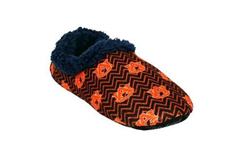 AUB11-3 - Auburn Tigers - Large - Happy Feet Mens and Womens Chevron Slip On Slippers