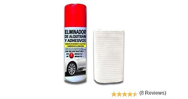 SANMARINO ELIMINADOR DE ALQUITRÁN Y ADHESIVOS SPRAY 520 CC. + BAYETA: Amazon.es: Coche y moto