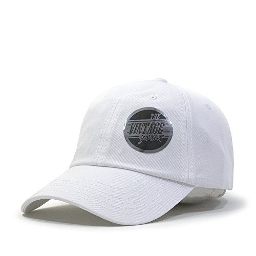 Classic Washed Cotton Twill Low Profile Adjustable Baseball Cap (White)