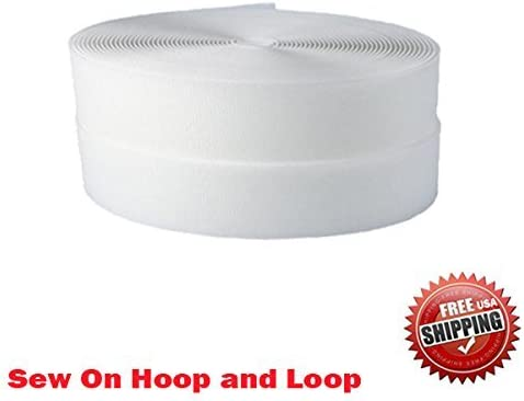 Zipperstop Wholesale YKK/® KK Sew on Hook and Loop Fastening Products Group YKK Tape 1 Inch White Style 10 Yards//roll