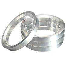 4 pieces - Hubcentric Rings Aluminium Hub Centric Rings 72.56x74.1mm