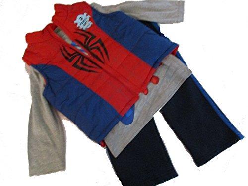 Marvel Ultimate Spiderman Toddler Boys 3 Piece Pants Set