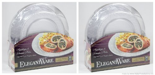 EPD Elegant-ware Disposable Dinner and Appetizer Plates- (100 Plates)