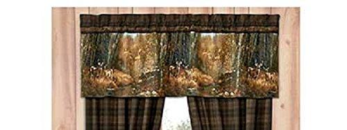 Whitetail Birch Valance - Deer Cabin Lodge Hunting Woods Bedroom Decor