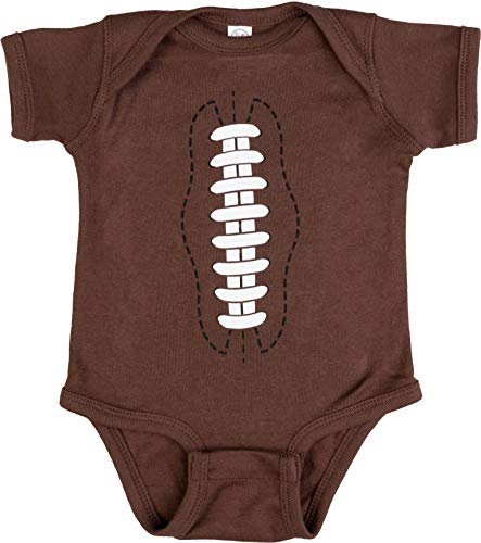 - Ann Arbor T-shirt Co. Baby Football | Funny Infant Newborn 6M 12M One Piece Romper Sports Joke Humor-(1piece,12M) Brown