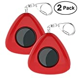 ASTUBIA Personal Alarm Keychain SOS Emergency Self-defense Alarm Safe Song Siren Sound Alarm with LED Flashlight for Women, Kids, Girls, Elderly (Red, 2 Pack)
