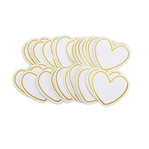 Heart Shaped Cards | Kate Aspen, Wish Jar Accessory, Advice Card, Perfect for Bridal Showers, Baby Showers, Graduations & Wedding – 100pcs