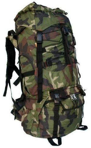 Harvest 7000 Cubic Inch Internal Frame Hiking Backpack, Black