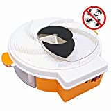 INNERSO Electric Fly Trap Device, Electronic housefly Trap Catches Flies, use USB Charging, Practical and convenientFly Insect Killer for IndoorOutdoor Use (Orange)