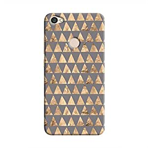 Cover It Up - Brown Grey Triangle Tile Redmi Y1 Hard Case