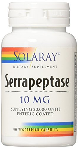 Solaray Serrapeptase 10 mg VCapsules, 90 Count
