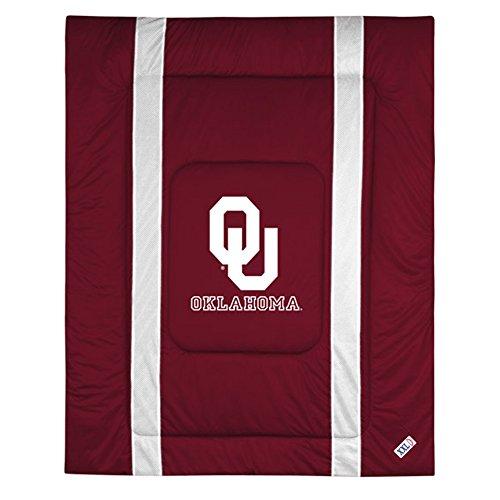 NCAA Oklahoma Sooners Sideline Comforter Queen (Full Sooners Oklahoma Comforter)