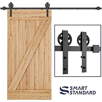 Amazon Com Winsoon 5 16ft Single Wood Sliding Barn Door