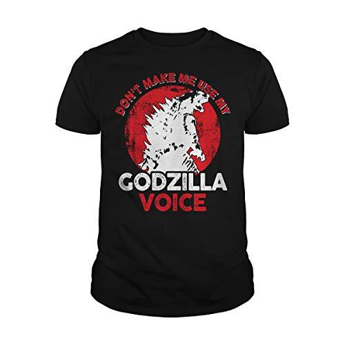 Men's Don't Make Me Use My Godzilla Voice T-Shirt (2XL, Black)]()