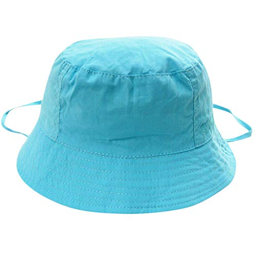 KASSD Hats for Baby Boy Girl, Toddler Kids Cap Solid Sunscreen Cute Soft Outdoors Fashion Blue ()