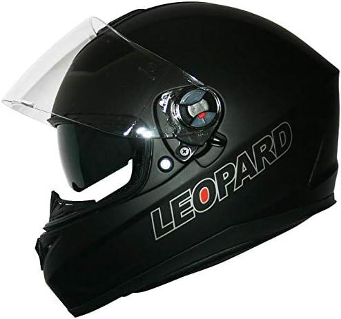 Leopard LEO-828 Double Visor Full Face Motorbike Helmet Motorcycle Red//Black//White S 55-56cm