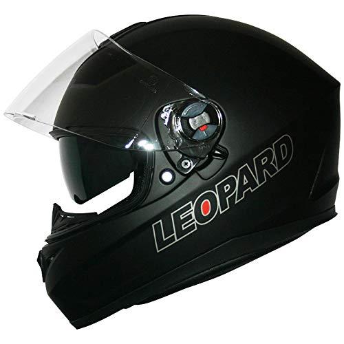 Leopard LEO-828 Cascos Integrales de Moto Motocicleta Bicicleta ECE 22-05 Aprobado + Doble Visera: Amazon.es: Deportes y aire libre