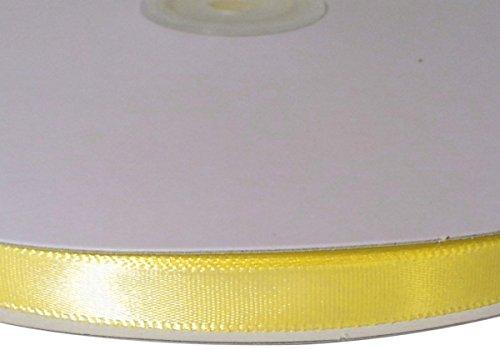Firefly Imports Single Face Satin Ribbon, 1/4-Inch/100-Yard, Canary Yellow