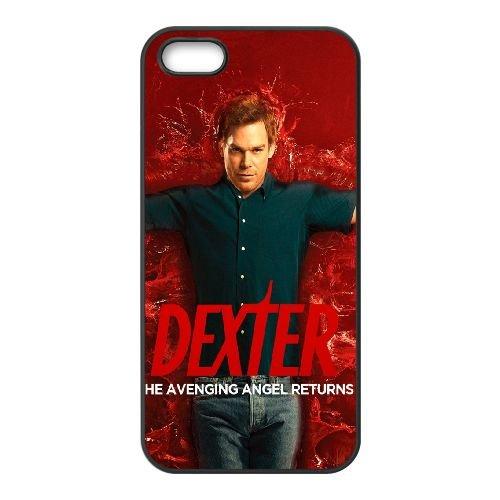 Dexter Morgan Dexter Michael C Hall Blood Show coque iPhone 5 5S cellulaire cas coque de téléphone cas téléphone cellulaire noir couvercle EOKXLLNCD23210