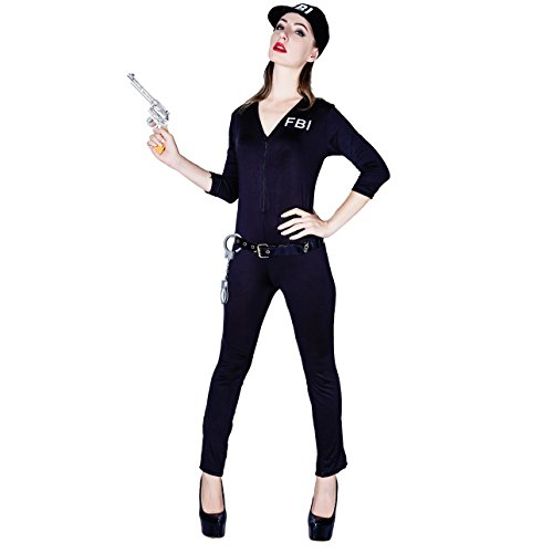 DSplay Women's Sexy FBI Agent Uniform Adult Costume ()