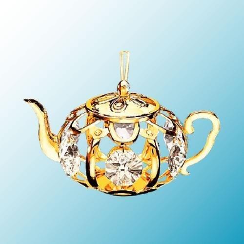 Mascot 24K Gold Plated Teapot Ornament Sun Catcher