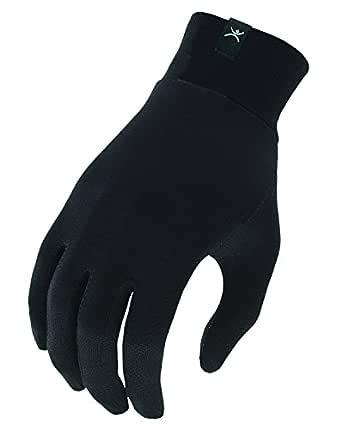 Terramar Sports Unisex Adult Thermasilk Glove Liner, Black, Small/6-8