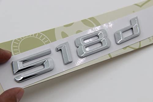 E892 518d Emblem 518 D Schriftzug Badge Auto Aufkleber 3d Car Sticker Chrom Zahlziffer Auto