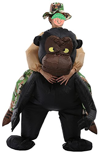 SASALO Adult Kids Inflatable Costume Funny Animal Riding Halloween Blow up (Full Body Gorilla Costume)