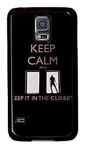 Keep Calm 45 PC Black Hard Case Cover Skin For Samsung Galaxy S5 I9600
