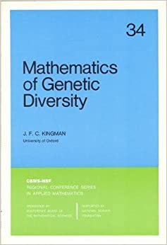 Mathematics of Genetic Diversity (CBMS-NSF Regional Conference Series in Applied Mathematics)